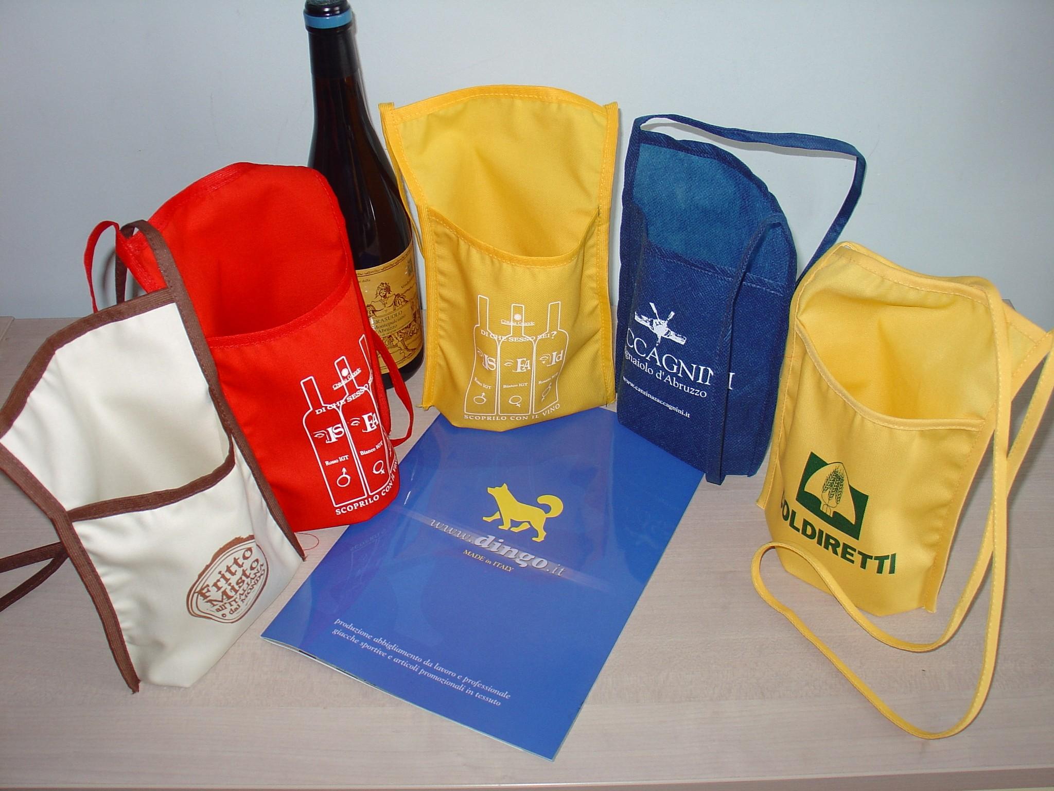 Dingo produzione articoli promozionali in tessuto borse - Porta bicchieri ...
